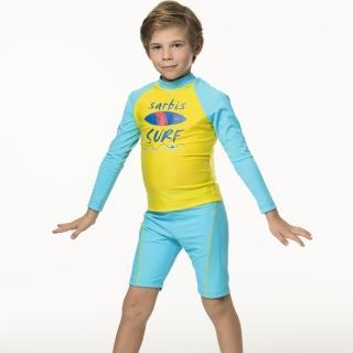 【SARBIS】泡湯 SPA兒童兩截式防曬泳裝附泳帽(B66806)