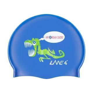 【LANE4羚活】恐龍矽膠泳帽(矽膠材質 視覺感搶眼 減少阻力設計)