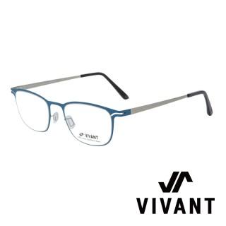【VIVANT】強勢來襲 江南奢侈品牌金屬矩形光學眼鏡(藍 CARRE Blue)