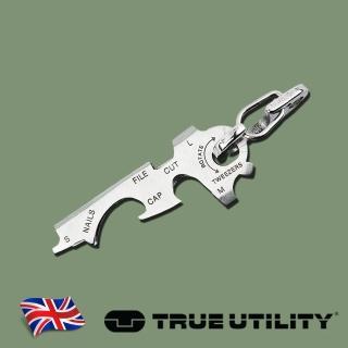 【TRUE UTILITY】英國多功能8合1迷你鑰匙圈工具KeyTool(8合1迷你鑰匙圈)