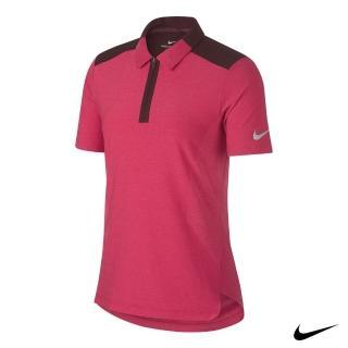 【NIKE 耐吉】女高爾夫運動短袖上衣(桃AA8224-666)