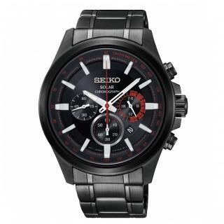 【SEIKO 精工】Criteria 時時刻刻三眼太陽能時尚腕錶(V175-0ER0X/SSC685P1)