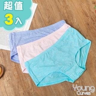 【Young Curves】青少女童莫代爾親膚三角褲-混色3件組(C0420146)