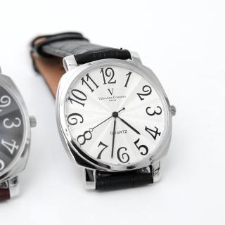 【Valentino Coupeau】數字皮革手錶