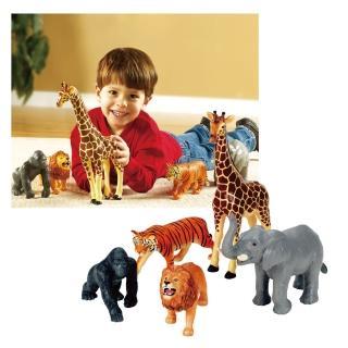 【Learning Resources】非洲動物園 社會扮演想像創造玩偶模型 兒童房幼兒園(益智成長 邏輯建構 原裝進口)