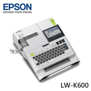 【超值組】贈2組12mm原廠標籤帶(黃底黑字/黑底白字)【EPSON】LW-K600可攜式高速列印標籤機