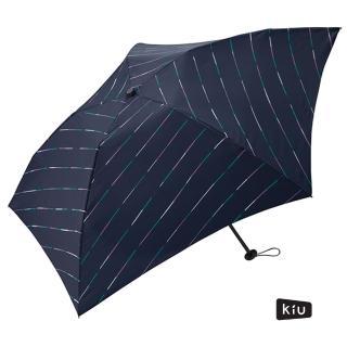 【日本KIU】空氣感90g摺疊抗UV晴雨傘(34068 霓虹)