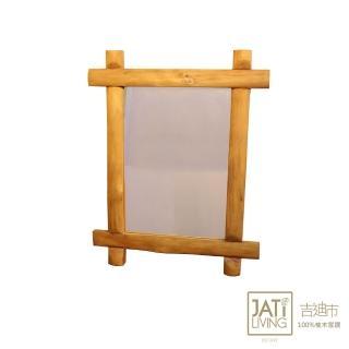 【吉迪市柚木家具】古木造型吊掛邊鏡