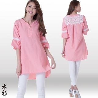 【水衫】柔嬌蕾絲長版上衣三件組(LG03-03)