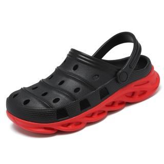 【Taroko】夏日透氣舒適洞洞兩用涼拖鞋(藍色黑色卡其色3色全尺碼)