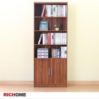 【RICHOME】貝莉6格雙門大書櫃/收納櫃/置物櫃/展示櫃/櫥櫃(可當收藏展示櫃)