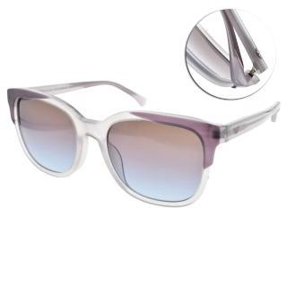 【EMPORIO ARMANI】歐系時尚流行框眼鏡(透紫白-漸層紫藍#EA4119F 5700-48)
