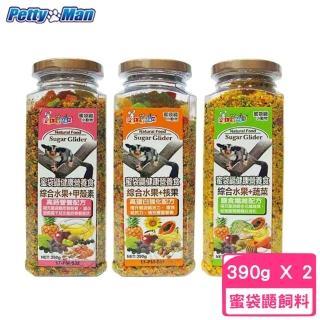 【PettyMan】蜜袋鼯健康營養食 390g(2罐組)