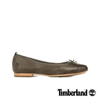 【Timberland】女款橄欖綠皮革芭蕾舞鞋