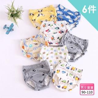【JoyNa】學習褲 5層紗嬰兒尿布褲(6件入)
