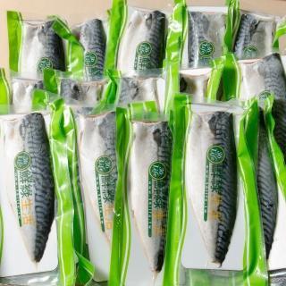 【鮮綠生活】大尺寸超厚正挪威薄鹽鯖魚(共110片)