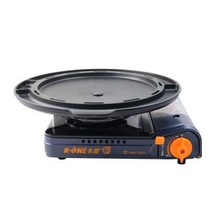 【卡旺】雙安全卡式爐+韓式多功能烤盤(K1-A005D+ST-1600P)