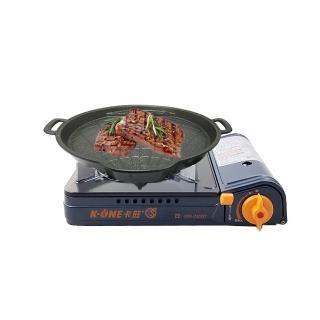 【卡旺】雙安全卡式爐+韓國烤盤(K1-A005D+NU-B)