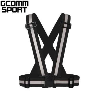 【GCOMM SPORT】多用途運動高反光安全背心 反光黑(反光安全背心)