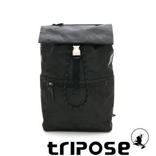 【tripose】迷彩系列輕量休閒高機能束口單扣後背包(黑色)