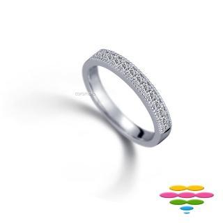 【彩糖鑽工坊】18K 鑽石排戒線戒(Elegance系列)