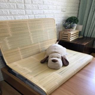 【AndyBedding】MIT鋪棉刮青竹蓆床墊-單人3尺(竹蓆床墊)