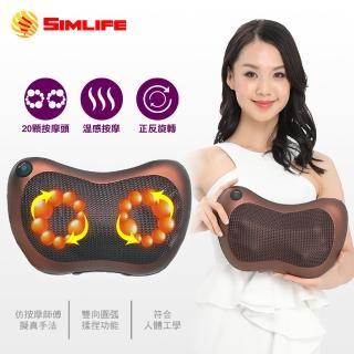 【SimLife】超越業界20D高科技溫感揉捏按摩枕(按摩枕/按摩椅/按摩椅墊)