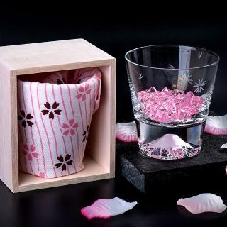 【田島硝子】日本手工吹製威士忌櫻花富士山杯(TG16-015-RS)
