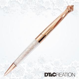 【DT&CREATION】晶瑩剔透水晶國王原子筆-附項鍊(施華洛世奇水晶元素 原子筆)