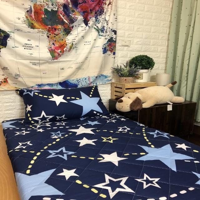 【AndyBedding】MIT鋪棉刮青竹蓆床墊-單人3尺(跳躍星空)/
