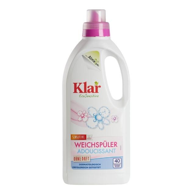 【德國Klar】天然環保衣物柔軟精1L(低敏無香精)/