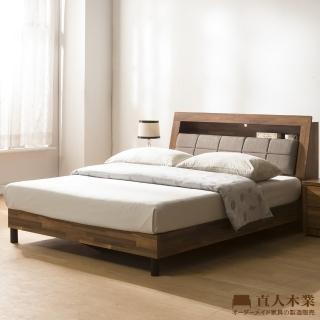 【直人木業】KELT積層木單層收納6尺附插座立式全木芯板床組