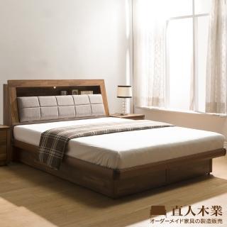 【直人木業】KELT積層木單層收納5尺附插座掀床組