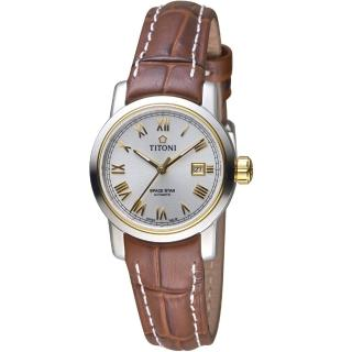 【TITONI 梅花錶】天星系列歐式經典機械腕錶(23538SY-ST-561)
