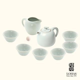 【LohasPottery 陸寶】汝窯藏器 錦珠壺茶組 一壺一海六杯(瑪瑙為釉  精湛工藝)
