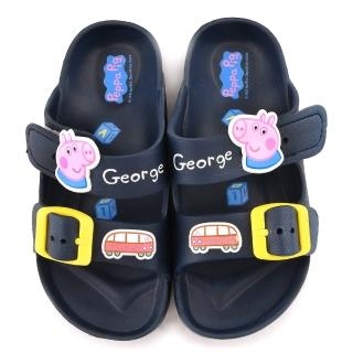 【童鞋城堡】粉紅豬小妹 佩佩豬 中童 輕量戶外拖鞋(PG0051-藍)