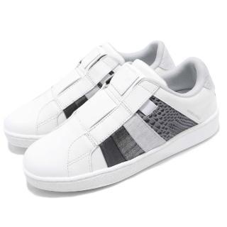 【ROYAL Elastics】休閒鞋 Prince Albert 運動 女鞋 低筒 懶人鞋 皮革 橡膠大底 穿搭 白 灰(91483080)