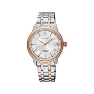 【SEIKO 精工】PRESAGE 日期顯示機械女錶(4R35-01B0KS/SRP856J1)