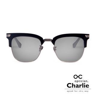 【Optician Charlie】韓國亞洲專利 LP系列太陽眼鏡(黑 + 水銀鏡面 LP BK1 -明星款)