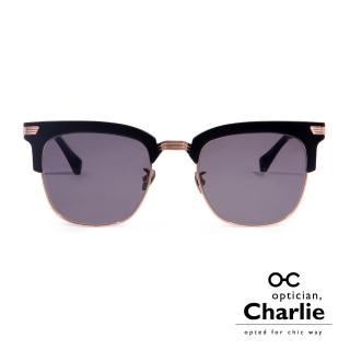 【Optician Charlie】韓國亞洲專利 LP系列太陽眼鏡(黑  LP BK -明星款)