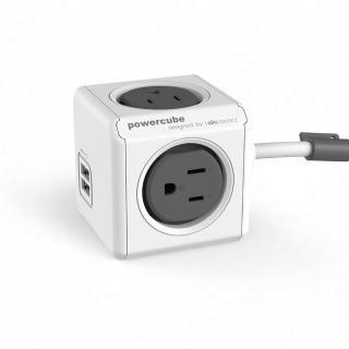 【索樂生活】荷蘭PowerCube 擴充插座4面3孔雙USB兩用延長線1.5m(自動斷電保護積木堆疊魔術方塊任意轉接)