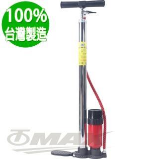 【鐵馬行】高壓直立式打氣筒附氣壓表802-台製