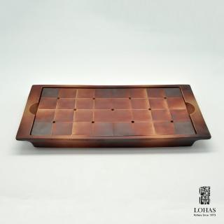 【LohasPottery 陸寶】對弈系列 楚河漢界茶盤(棋盤造型茶盤 獨特的藝術魅力)