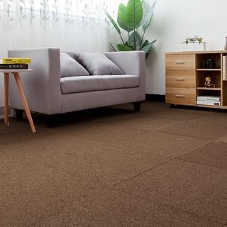【JLM生活館】時尚拼接方塊吸音隔音地毯地板貼-36片一組「深咖GR04」(地毯、隔音、吸音、拼接、方塊)