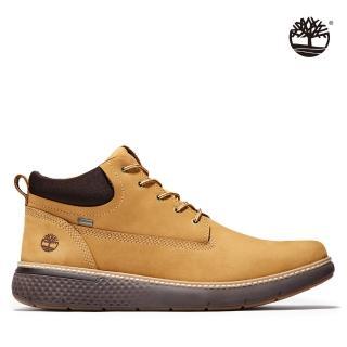 【Timberland】男款小麥黃正絨面皮革Cross Mark鞋(A1TQA231)