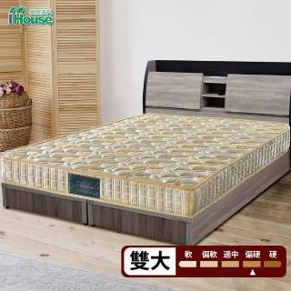 【IHouse】Minerva 福賈 護脊加強律動棉高碳鋼硬式連結床墊(雙大6x6.2尺)