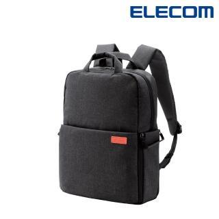 【ELECOM】帆布多功能後背包S041(黑)