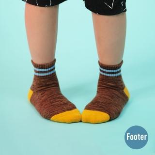 【Footer】撞色雙橫線條氣墊襪(ZH86L-咖啡)