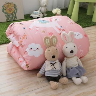 【IN-HOUSE】快樂獨角獸-200織紗精梳棉-中童被(粉色)