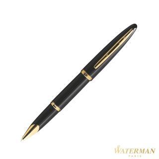 【WATERMAN】頂級海洋系列 純黑金夾 鋼珠筆(法國製)